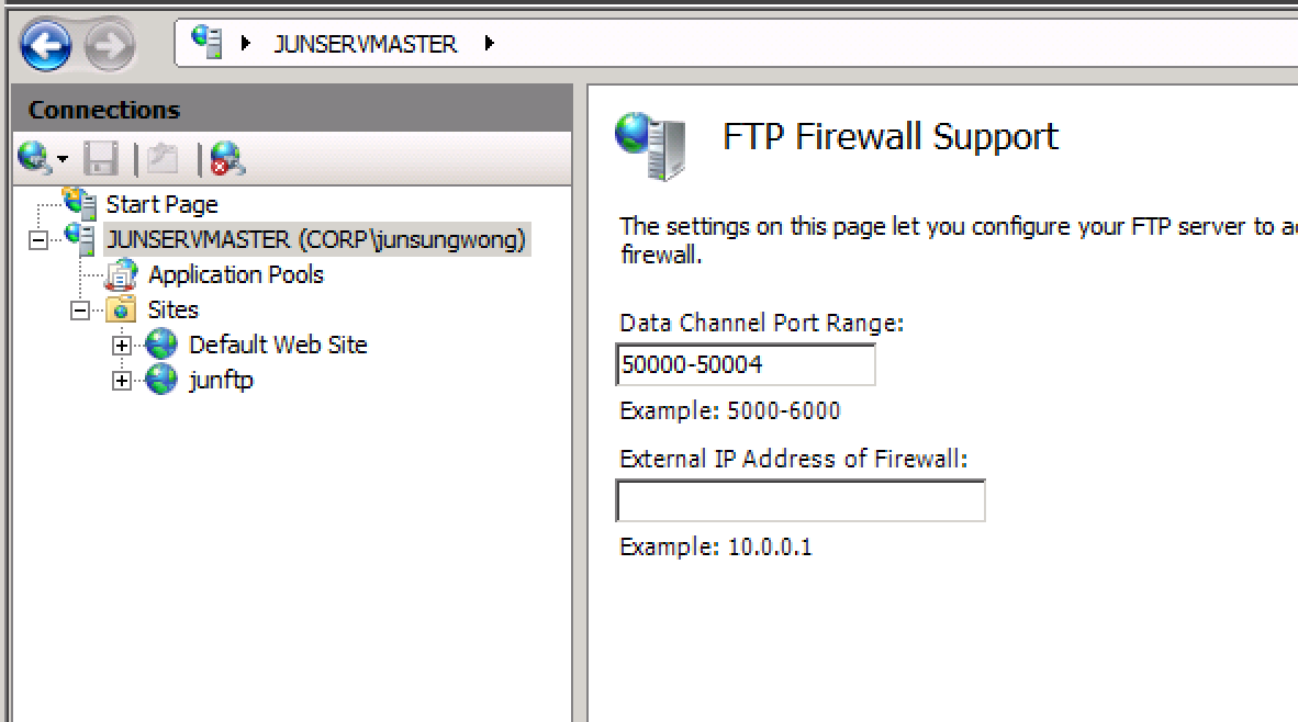 how to open ftp port 21 on windows 7