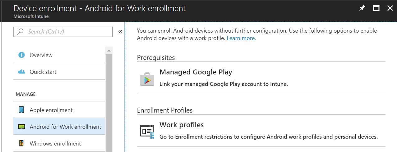 Intune: Android for Work vs Android Enrollments – Jun Wong